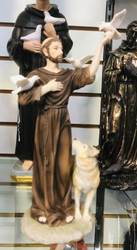 "11"" St Francis with Wolf Statue"