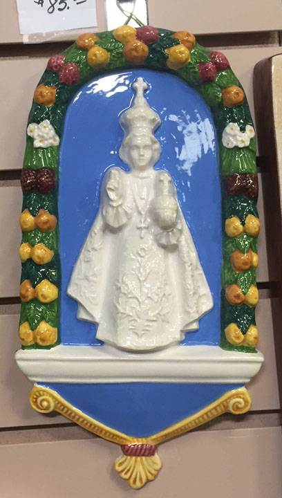 "11"" X 6"" Infant Of Prague Della Robbia Wall Hanging *WHILE SUPPLIES LAST*"