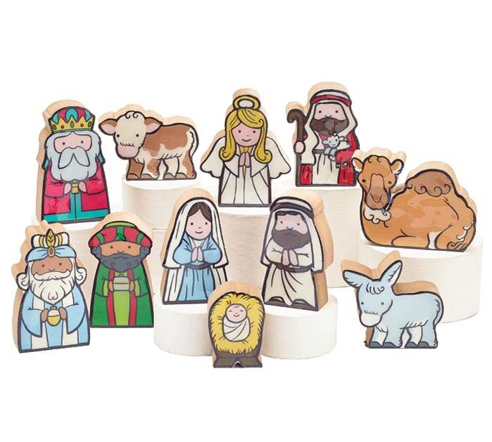 11 pc Children's Nativity Set
