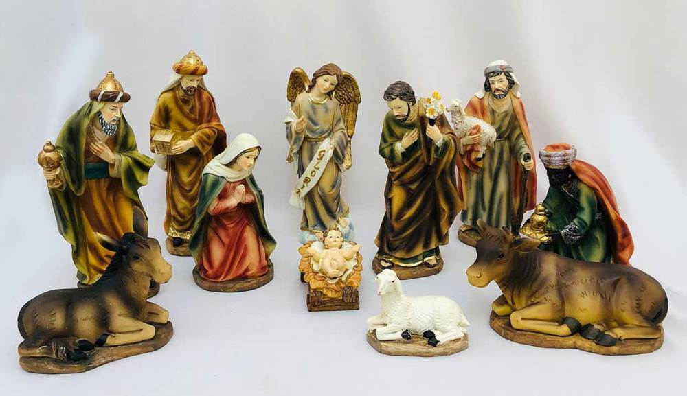 "11pc 10"" Heaven's Majesty Nativity Figure Set"
