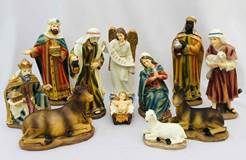 "11pc 10"" Heavens Majesty Nativity Figure Set"