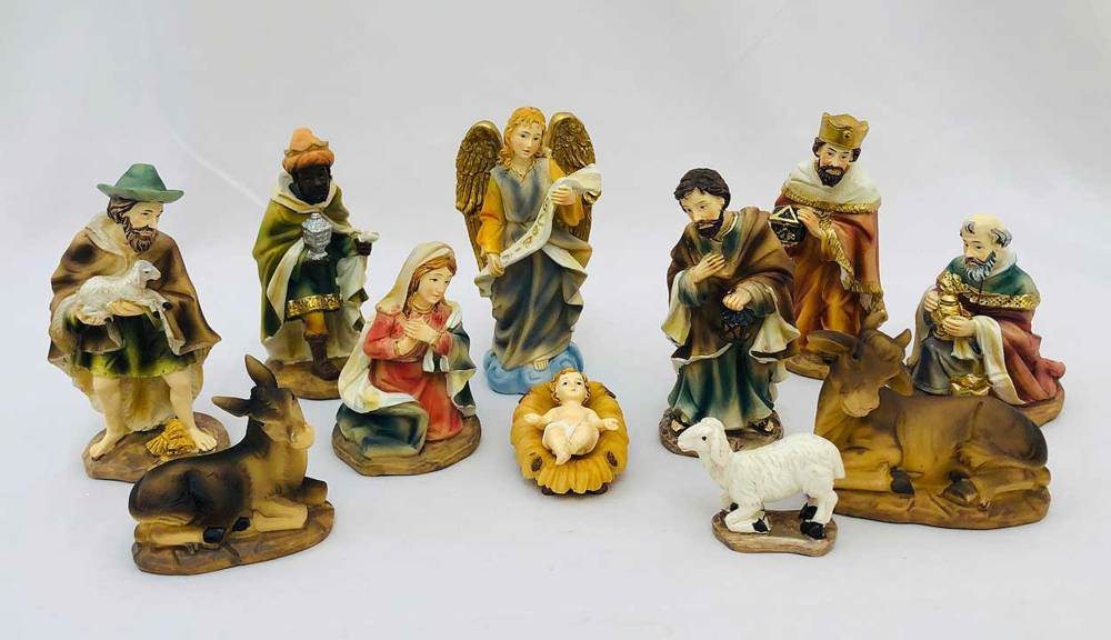 "11pc 4.5"" Heaven's Majesty Nativity Figure Set"