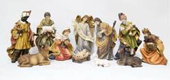 "11pc 8"" Heavens Majesty Nativity Figure Set"