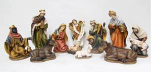 "11pc 8"" Heaven's Majesty Nativity Figure Set"