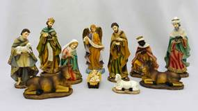11pc Heavens Majesty Divinity Nativity Figure Set