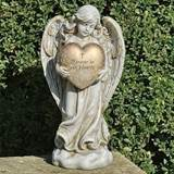 "12.25"" Forever in Our Hearts Memorial Angel Statue"