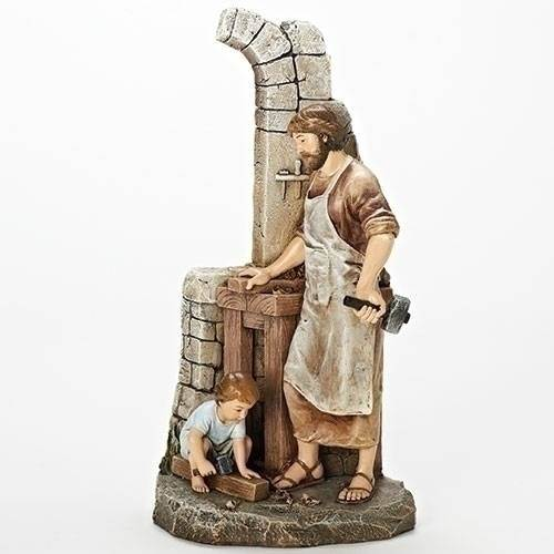 "?12.75 inch tall; From the popular Joseph's Studio Collection of religious statues. Resin/Stone Mix. 12.75"" tall x 6.5 ' wide."