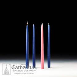 "12"" Advent Candle Set- Blue/Pink"