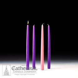 "12"" Advent Taper Candle Set- Purple/Pink"