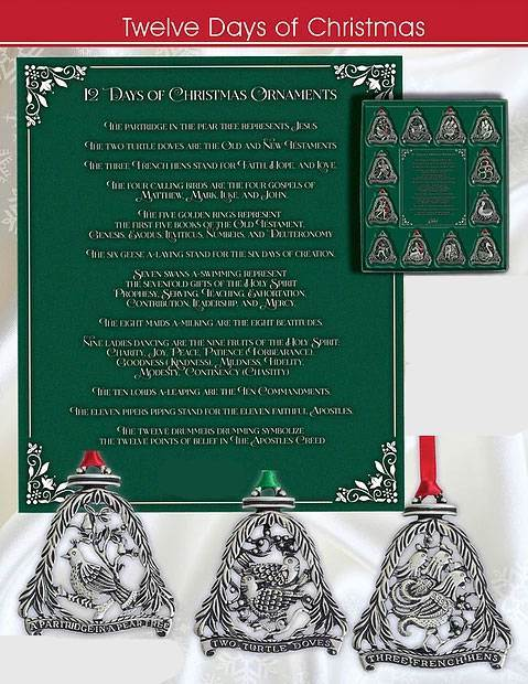 12 Days of Christmas Boxed Ornament Set
