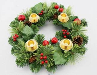 "12"" Decorated Evergreen Advent Wreath"