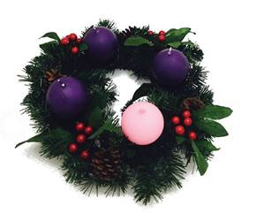 Evergreen Advent candle Wreath