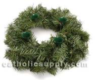 "12"" Evergreen Advent Wreath"