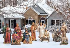 12 Figure Real Life Nativity Set for Yard Decor