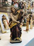 "12"" St. Andrew Hand Carved Statue from Italy"