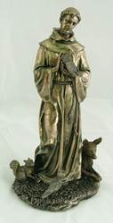 "12"" St. Francis With Animals Statue"
