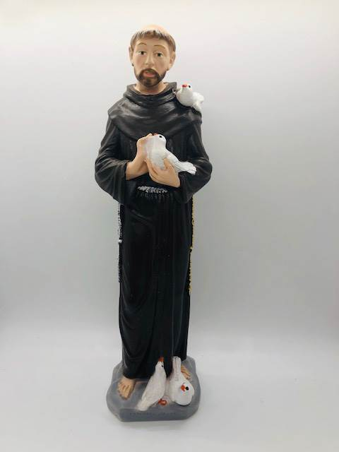 "12"" St. Francis of Assisi Statue from Italy"