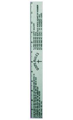 "12"" Ten Commandments Ruler"