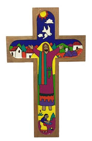 "12"" Wood Wall Cross from El Salvador"