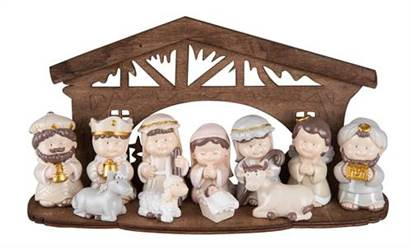 Nativity set with Stable