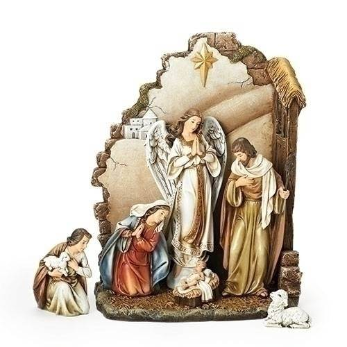 Nativity with back wall