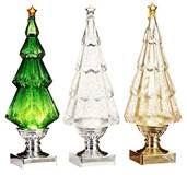"13.75"" Continuous Motion Lighted Christmas Trees"