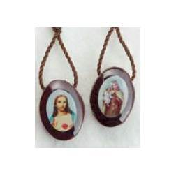 Oval Wood Scapular