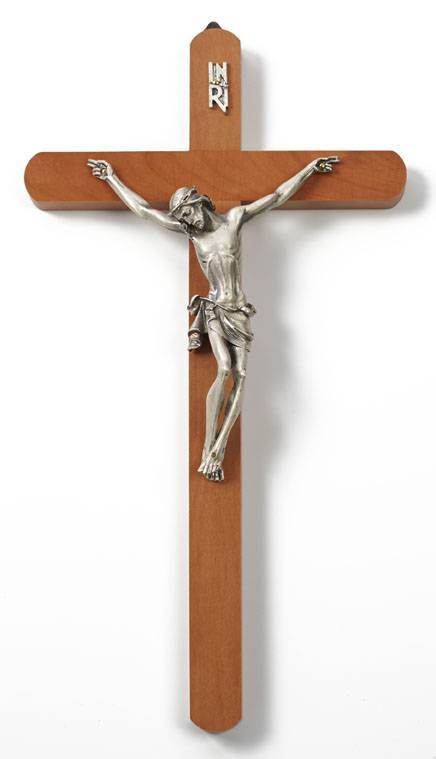 "14"" Pearwood Wall Cross"