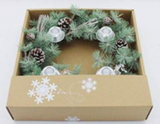 "14"" Winter Frost Advent Wreath"