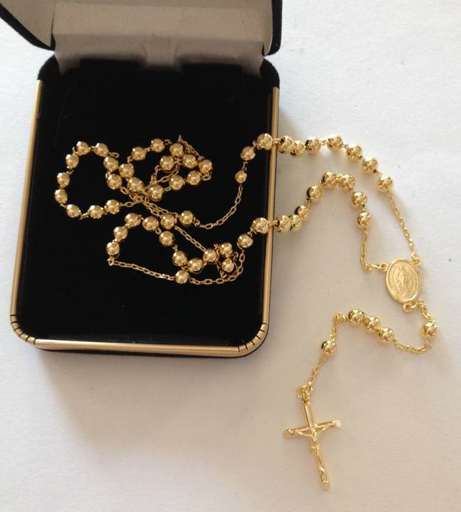14kt Gold Rosary from Italy