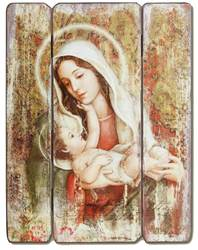 "15"" A Childs Touch Decorative Panel wall decor , wall panel, decorative panel, home decor, church decor, madonna and child, madonna and child panel, mary, 66490"