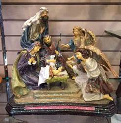 "15"" Angels At The Nativity Scene nativity set, nativity scene, nativities, nativity with angels, holy family with angels"