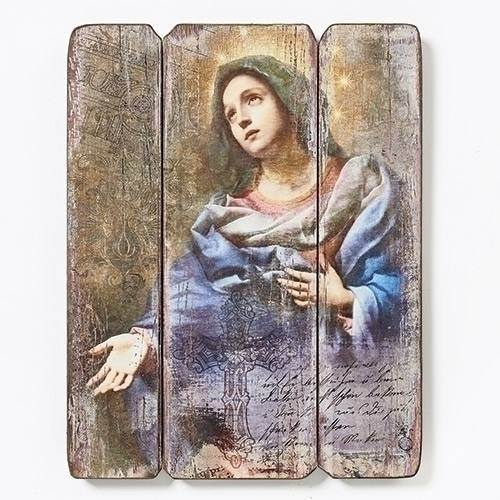 "15"" Our Lady of Grace (Mary) Decorative Panel  wall decor , wall panel, decorative panel, our lady of grace, blessed virgin mary picture, mary picture, mary artwork, our lady artwork, our lady picture, jesus mother, jesus mother"
