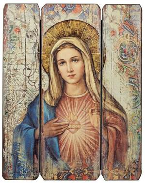 "15"" Immaculate Heart Decorative Panel"