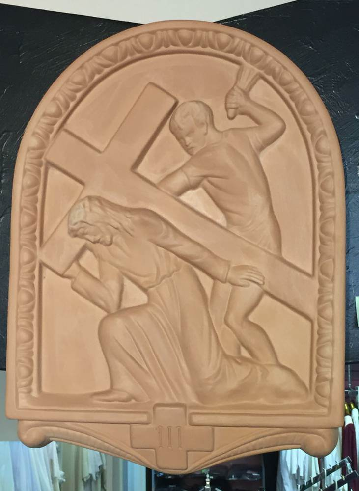 15 Piece Stations of the Cross Set, Arched Design Della Robbia *WHILE SUPPLIES LAST*