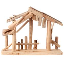 "15"" Wooden Nativity Stable"