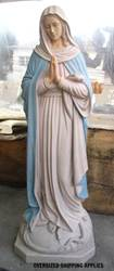 15623 Our Lady of Mercy 4ft Fiberglass Full Colored Handpainted
