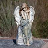 "16.25"" Angel Statue with Bluebird"