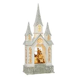"16.25"" Nativity in Church Water Lantern"