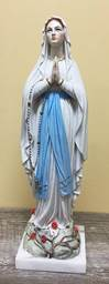 "16"" Our Lady of Lourdes Colored Statue from Italy"