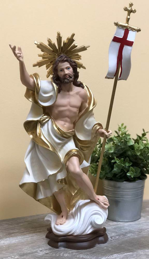 "16"" Risen Christ Statue from Italy"