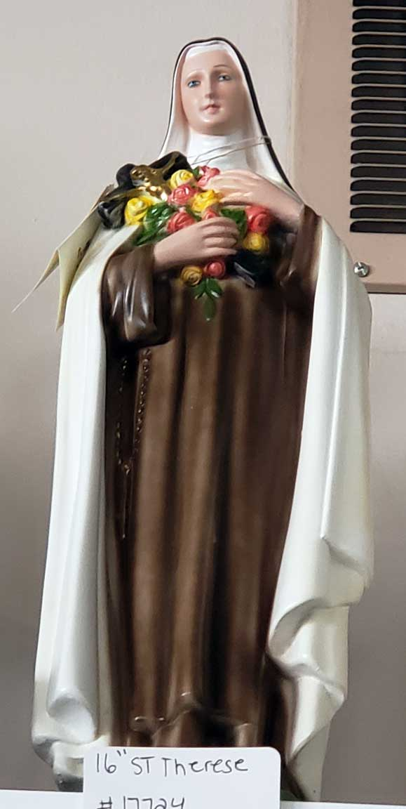 "16"" Plaster St .Therese Statue from Italy"