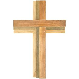 "16"" Triple Stained Wall Cross"