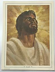 "16""X12"" He Leadeth Me , #2 Christ- Print Only"
