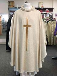 163 White Alemana Chasuble by Manantial