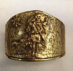 1661 Gold Plated Ring Sterling Silver Made In Italy