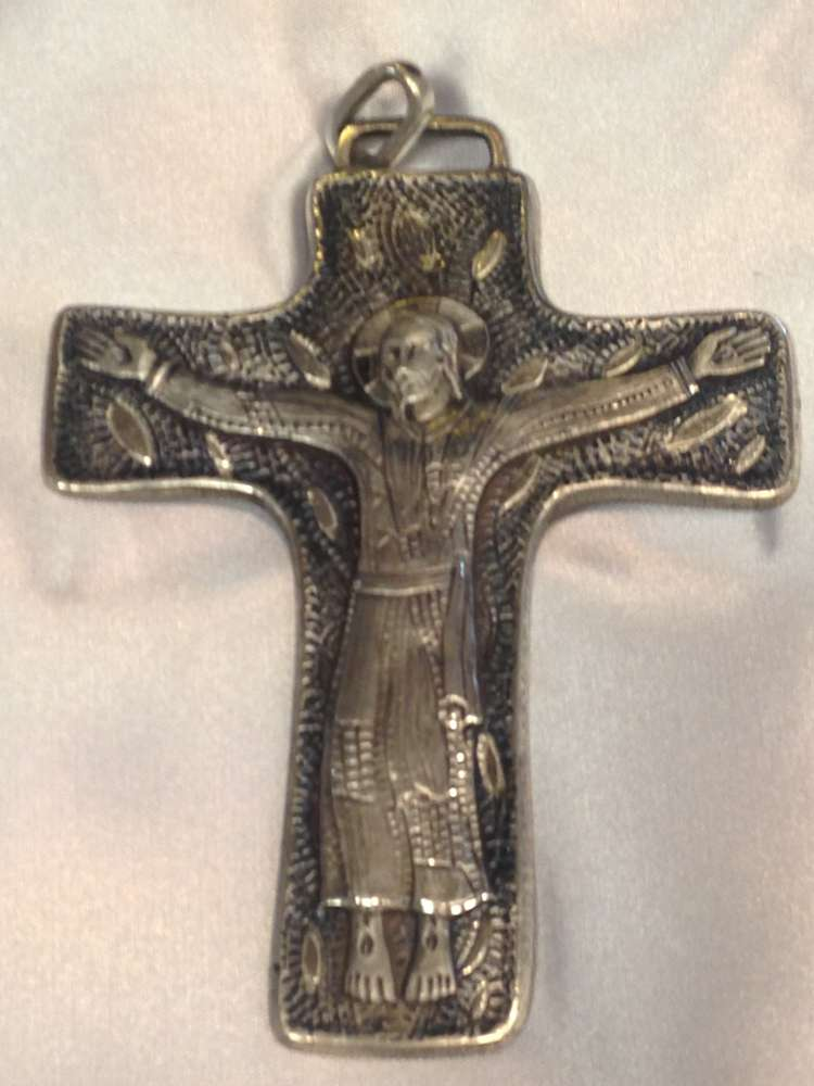 1698I Pectoral Cross Gold Plate -Sterling Silver Made In Italy