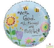 With God all Things are Possible Balloon