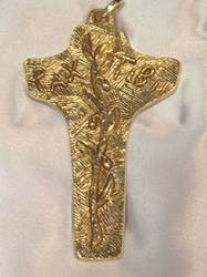 1700N Pectoral Cross Gold Plated - Sterling Silver Made In Italy