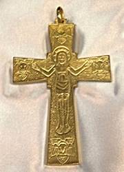 1700S Pectoral Cross Gold Plate